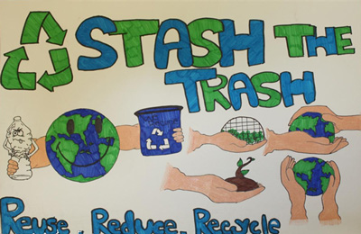 Last Night We Announced The Winner Of Stash Trash Poster Contest That Our Good Friends At Ossining Schools Had During Month February