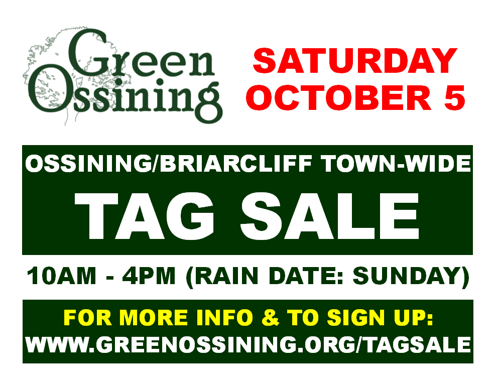 Green Ossining's Spring 2019 Community-Wide Tag Sale - Green